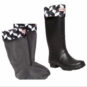 Hunter Womens Geometric Dazzle Boot Socks